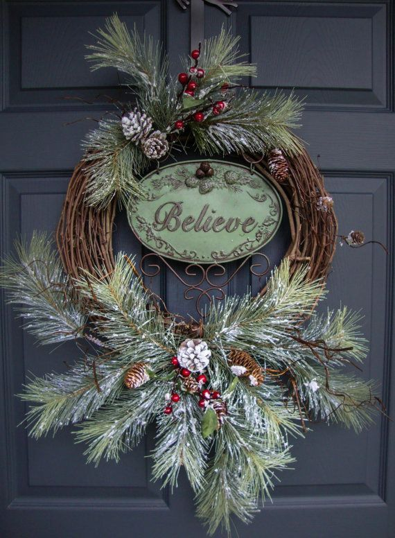 belive christmas wreath