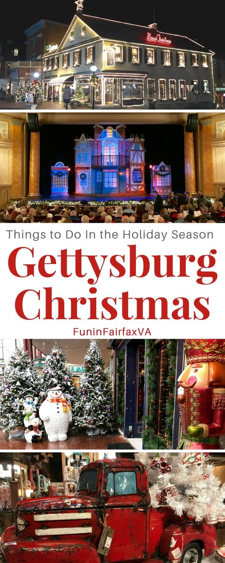 Gettysburg Pennsylvania US Holiday Travel   A Gettysburg Christmas offers special holiday events, excellent shopping, andseasonal beauty to inspire a unique and fun Pennsylvania getaway. #pennsylvania #holiday #christmas #getaways