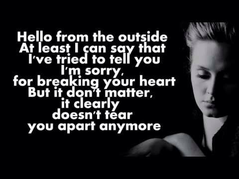 an analysis of the song hello by adele Hello was the first single released from adele's long awaited third studio album 25 the track was released on friday, october 23, 2015 and soon went on to break a number of records the track was released on friday, october 23, 2015 and soon went on to break a number of records.
