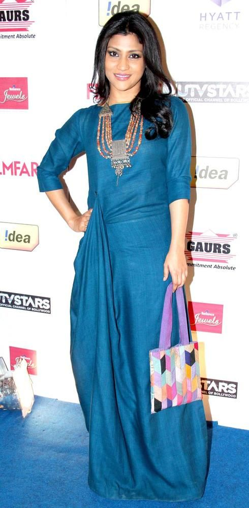 Konkana Sen Sharma at the Filmfare pre-awards party. #Style #Bollywood #Fashion #Beauty