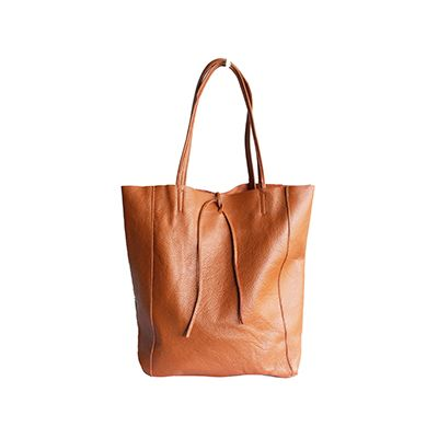 Tania Italian Tan Leather Shopper Bag - £49.99