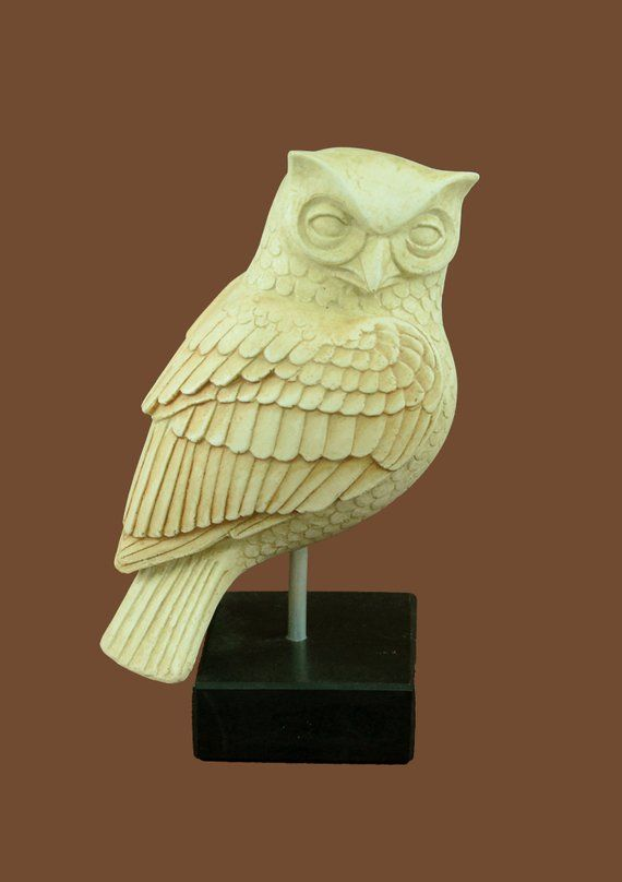 Athena Goddess Of Wisdom Owl Symbol Ancient Of Greek Bronze Museum Replica