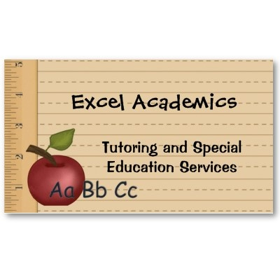 Fully Customizable With Your Information-Education Services Business Card-for Teachers and Tutors