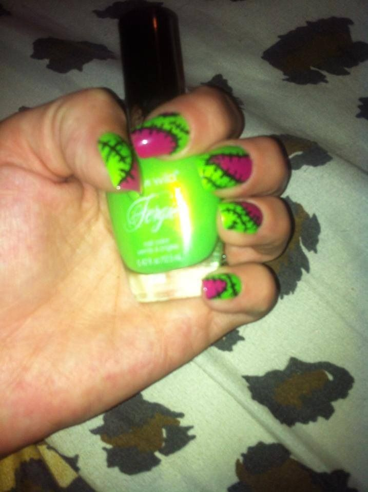 Scar and stitch nails! Polish color made by fergie!
