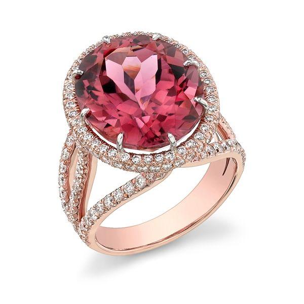 #AGSMember #Omi Gems pink tourmaline & diamond ring #AmericanGemSociety @pinterest.com/amergemsociety/