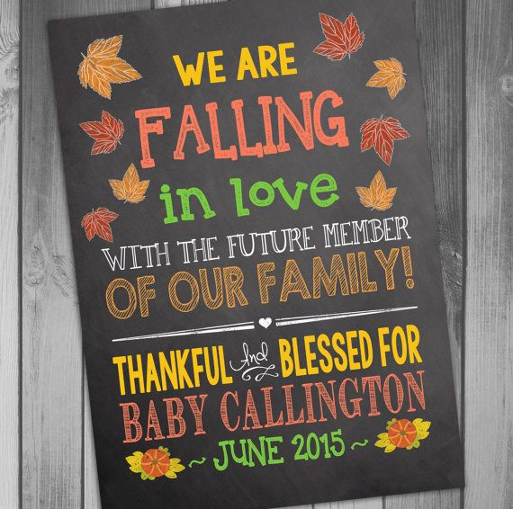 Pregnancy Announcement Baby Announcement We Are by CLaceyDesign