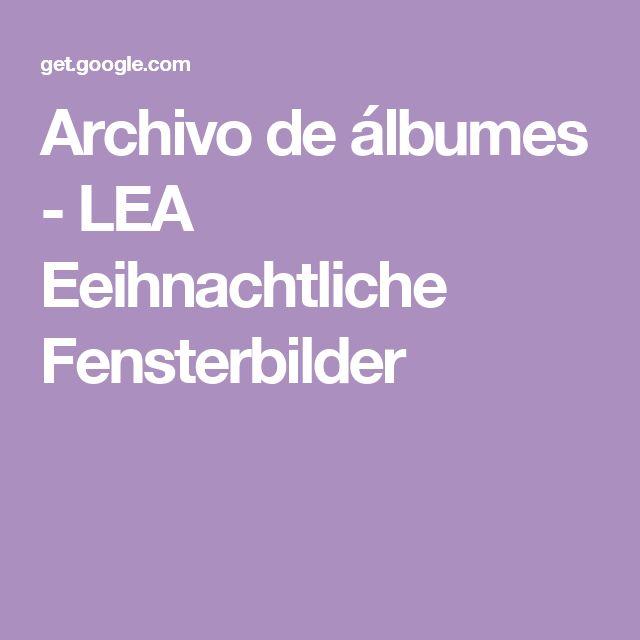 Archivo de álbumes - LEA Eeihnachtliche Fensterbilder