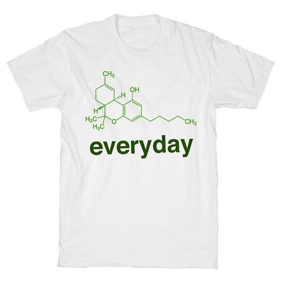 Weed Science THC White Unisex T Shirt by WildYouthTees on Etsy  Awesome graphic tees for adults and children who can't even right now.Featuring aliens, coffee, wine, sarcastic sayings, fandom, and a sloth eating cereal.