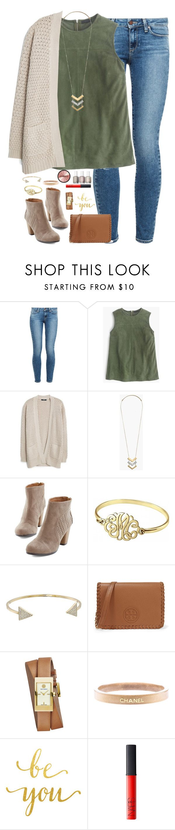 """sometimes you can't explain what you see in a a person. it's just the way they take you to a place that no one else can."" by kaley-ii ❤ liked on Polyvore featuring Paige Denim, J.Crew, MANGO, Madewell, Alison & Ivy, Michael Kors, Tory Burch, Chanel, NARS Cosmetics and Smashbox"