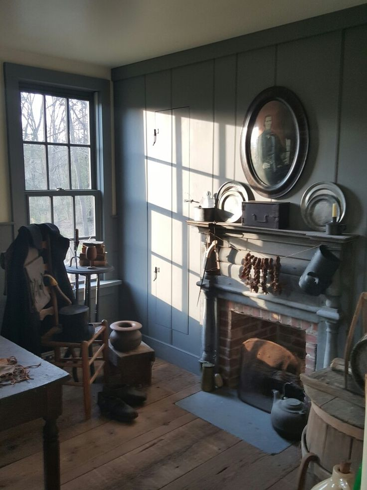 Pin by debbie stefanucci on colonial obsession for Primitive interior designs
