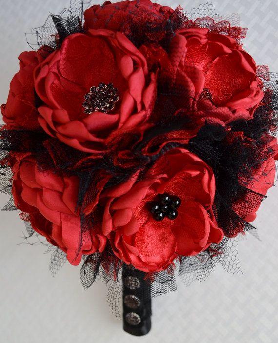 Satin anemone bouquet