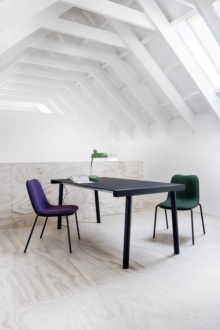 Torii table + Boum chair for Kristalia #table #chair #chairs #kitchen #interiordesign #interiors #interiordecor #interiordecorating #interiordecoratingideas #design #productdesign #minimal #minimalism #minimalism #minimalist #scandinavian #scandinaviandesign #scandinaviandecor #madeinitaly #officefurniture #officedesign