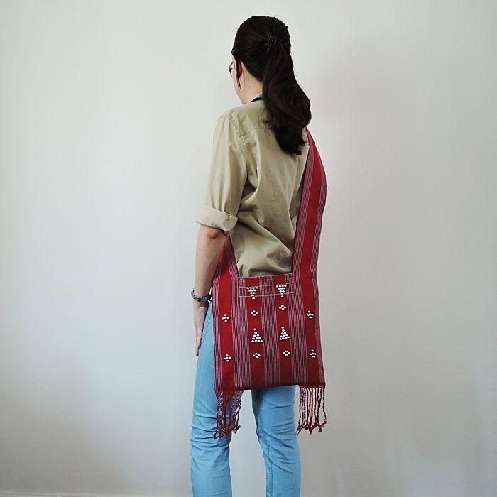 Native Handcrafted Bags KAREN Tribal Handbag Shoulder Purses Hippie Yamm Zip    #Unbranded #ShoulderBag