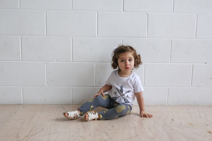 Arrow T-shirt ($42.95) + Pineapple Leggings ($34.95). Organic Cotton, Unisex, Ethical & 100% made in Melbourne with love.