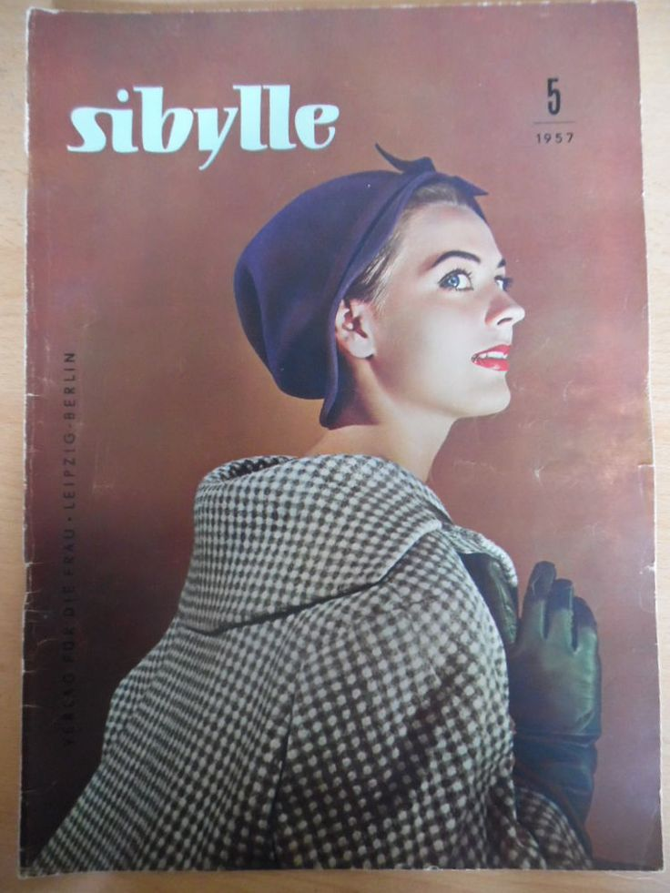german fashion magazine SIBYLLE 5 - 1957 * Herbstkleidung Pariser Mode Jersey Mantel Schuhe Cord Vogue
