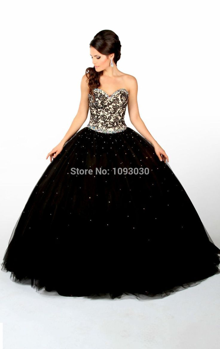 Vestidos 15 negro