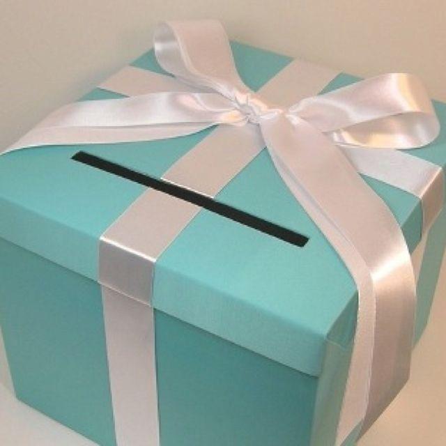 Tiffany Blue Aqua Silver Card Box Decorations More Wedding Cake Topper Diy Reception Ring Cardbox