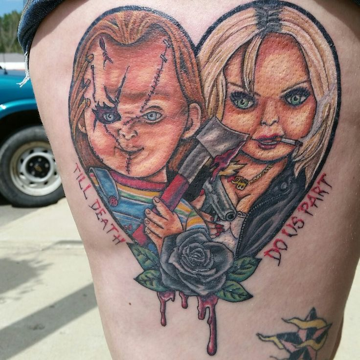 Chucky and Tiffany tattoo I custom designed