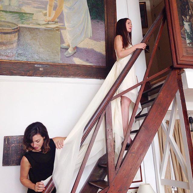 Behind the scenes of our shoot in Paris today!!! #impressionist #art #russian #paris #atelier #behindthescenes #weddings #bridal #vancouverbridal    #Regram via @elika.in.love