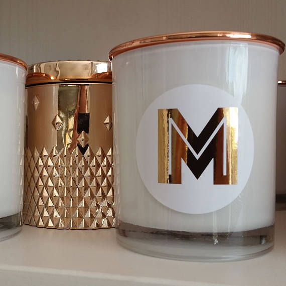 Personalised 'Alpha' Handpoured Soy Candle with Rose