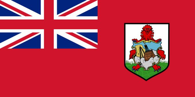 Flag of Bermuda:   This is the national flag of Bermuda, a British Overseas Territory located in the North Atlantic Ocean off the east coast of the USA. Want to learn more? Check out these Bermuda maps.