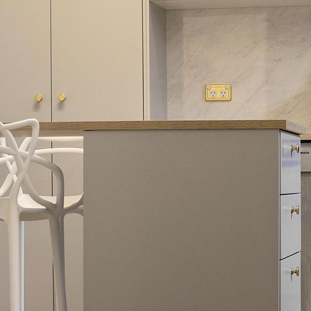Sunday IKEA hack No.2 - the owners of this kitchen have matched our polished brass switch covers and cupboard knobs with grey cupboards and oak bench tops to allow this IKEA kitchen to mix it with the best of them. ~~~~~~~~~~~~~~~~~~~~~~~~~~~~~~~~~~~~~~~~~~ Download our brochure at www.tradco.com.au | Call 08 8362 1133 or email sales@tradco.com.au for wholesale and stockist enquiries ~~~~~~~~~~~~~~~~~~~~~~~~~~~~~~~~~~~~~~~~~~ #ikeahack #architecturalhardwaredesigns #architecturalhardware…