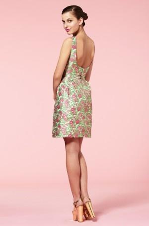 Louche Carmine Floral Dress
