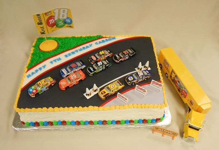 Custom NASCAR M's Kyle Busch Cake with Fondant detailing!