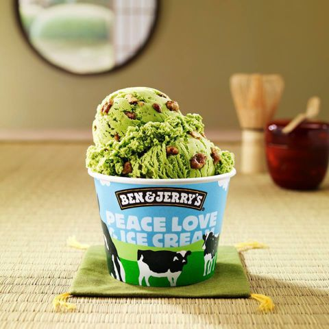 Trendy matcha green tea gets turned into ice cream and laced with caramelized pecans.