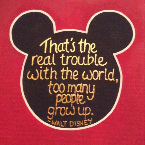 Walt Disney Quote Painting by GlitterKittyCrafts on Etsy