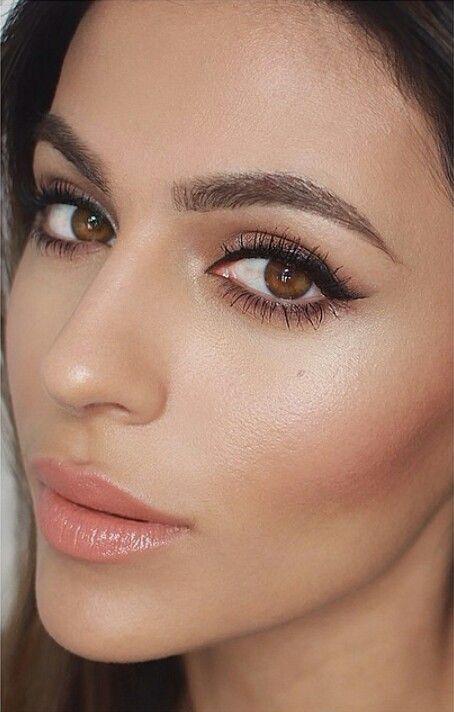 Eye makeup + Dewy skin - Teni Panosian