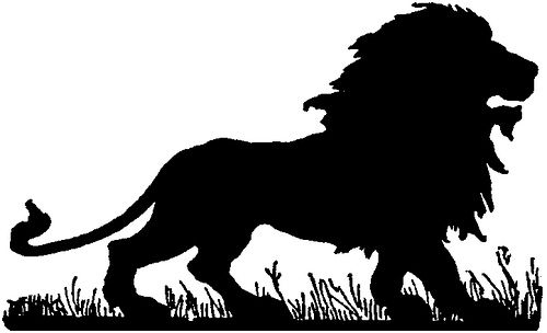 Lion Silhouette | Flickr - Photo Sharing!