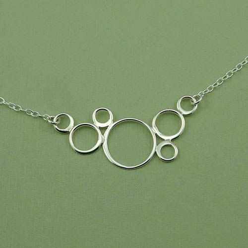 Floating Bubbles Necklace  women's sterling silver by TheZenMuse, $36.00