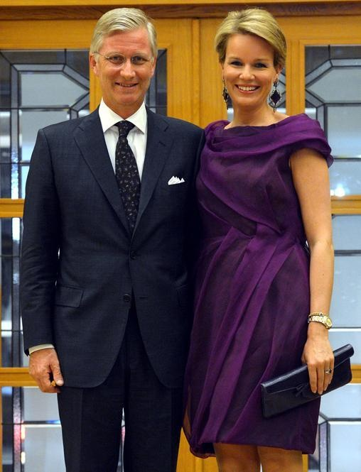 Queen Mathilde and King Philippe of Belgium... Attending a concert in Istanbul, Turkey.. October 18, 2012