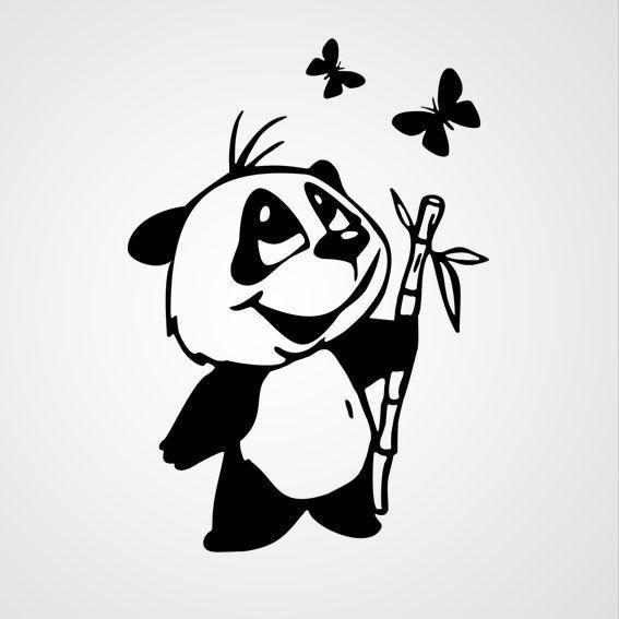 Beertje met bamboe - Dewiha Art - Muursjablonen en Muurstickers