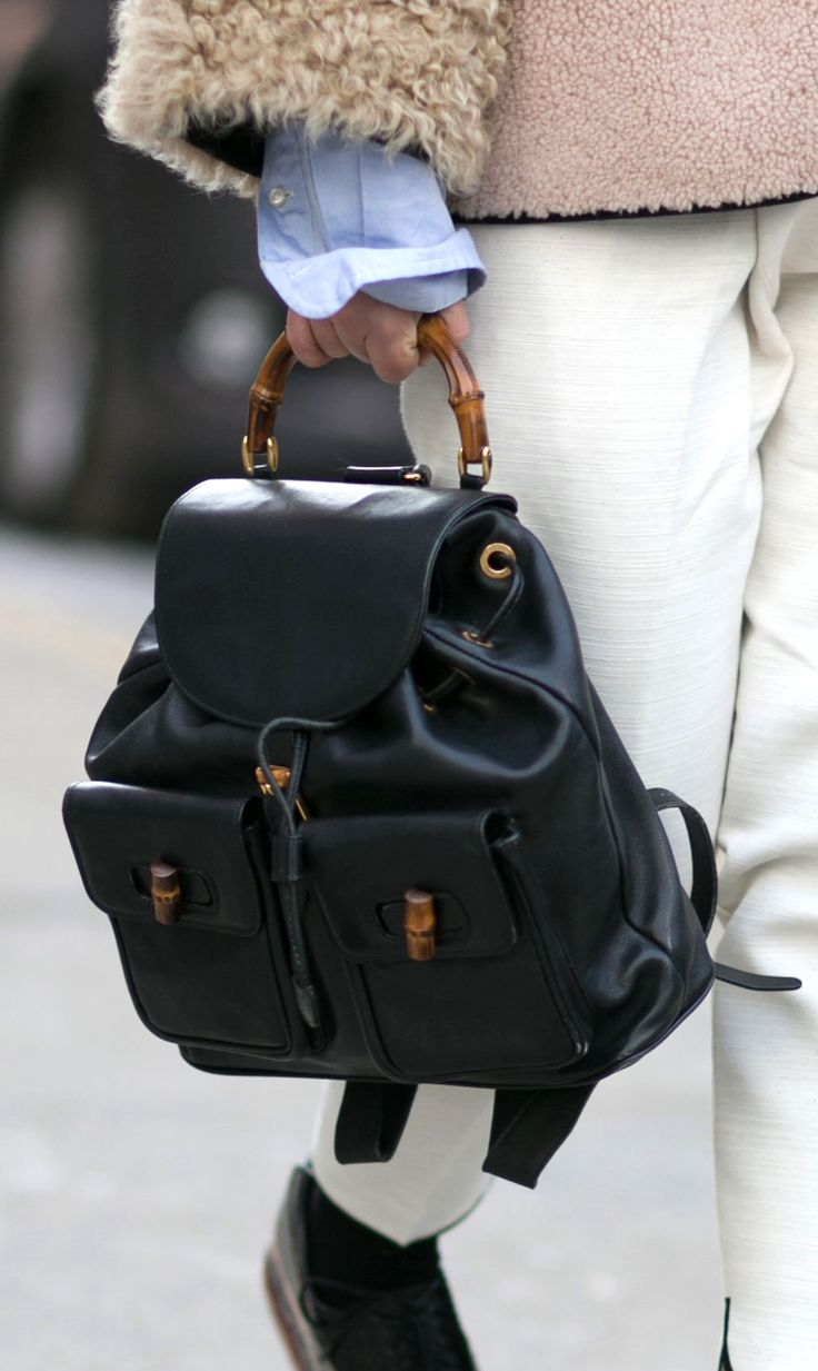 The Gucci bamboo backpack. Yes please!