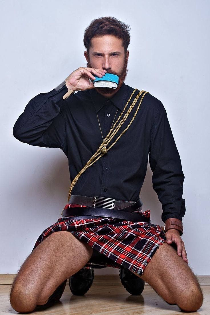 A flask and a #kilt-- what more does a man need? #MenInKilts