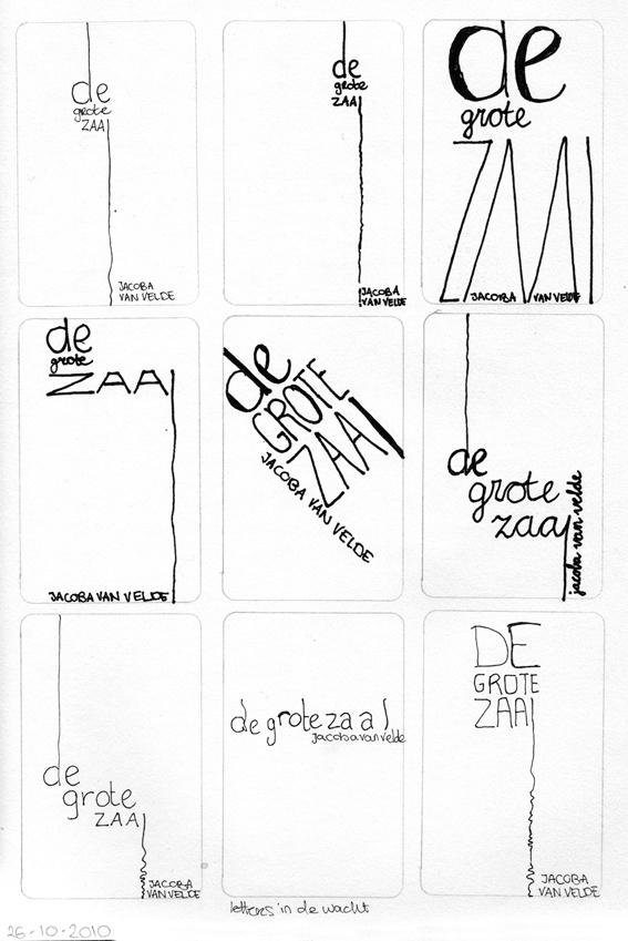 Schetsen voor een boekomslag (onderzoek naar de grafische vormgeving