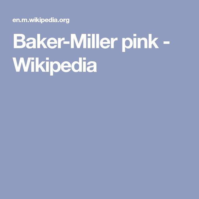 Baker-Miller pink - Wikipedia