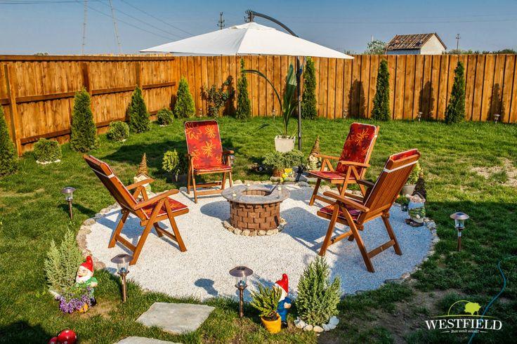 Niciunde nu te relaxezi mai bine ca #acasă, în #grădina ta.  #home #yard #outdoor #westfieldArad #bestplaceintown #fireplace