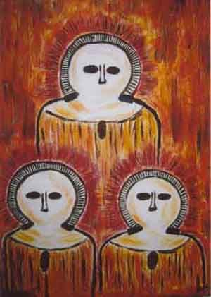 UFOs and Extraterrestrials in Art History - Crystalinks Wandjina petroglyphs from Kimberley, Australia.  About 5,000 years old and may represent alien beings. Gods - Link Between Australia and Egypt