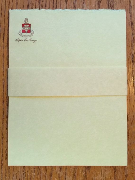 Vintage Acacia Fraternity Stationary Alpha Chi by LeftoverStuff