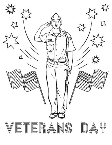 321 best coloring pages at images on for Veterans coloring pages free