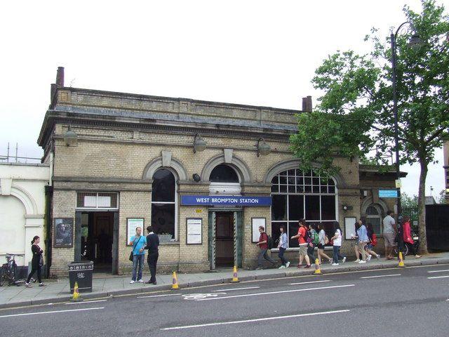 West Brompton Railway Station (WBP) in London, Greater London