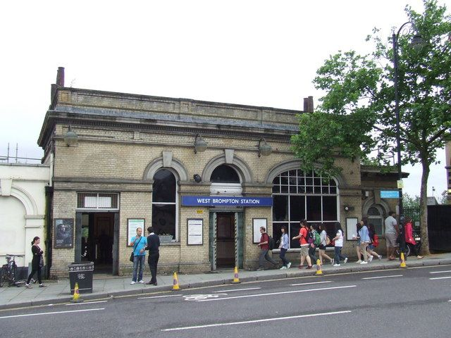 West Brompton Railway Station (WBP) in London, Greater London