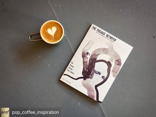 Great Post The Passage Between is now available in Cork along with some great bookshops in Dublin. @pop_coffee_inspiration Regrann from @pop_coffee_inspiration - [...] and with the hours unfolds a cloudless heaven knitting up goodness into a shawl of brief sunlight. Loving the first issue of The Passage Between a transatlantic literary magazine that publishes art poems short fiction and true stories from both sides of the Atlantic. Printed using recycled and sustainable paper by…