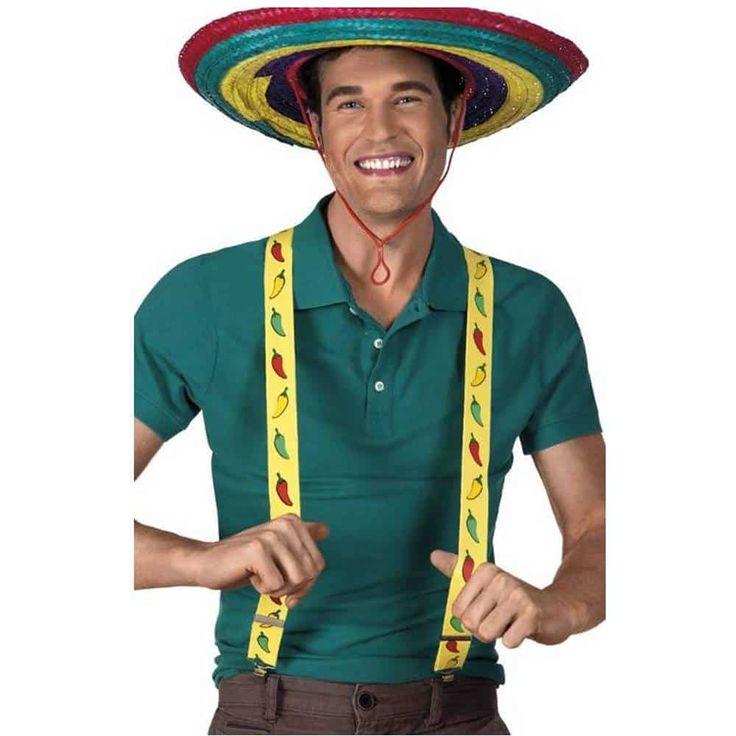 Comprar Tirantes Mexicanos. Complemento para fiestas de disfraces mexicanas. Este complemento de disfraz y muchos más puedes verlo en nuestra tienda online de disfraces y complementos disfracestuyyo.com