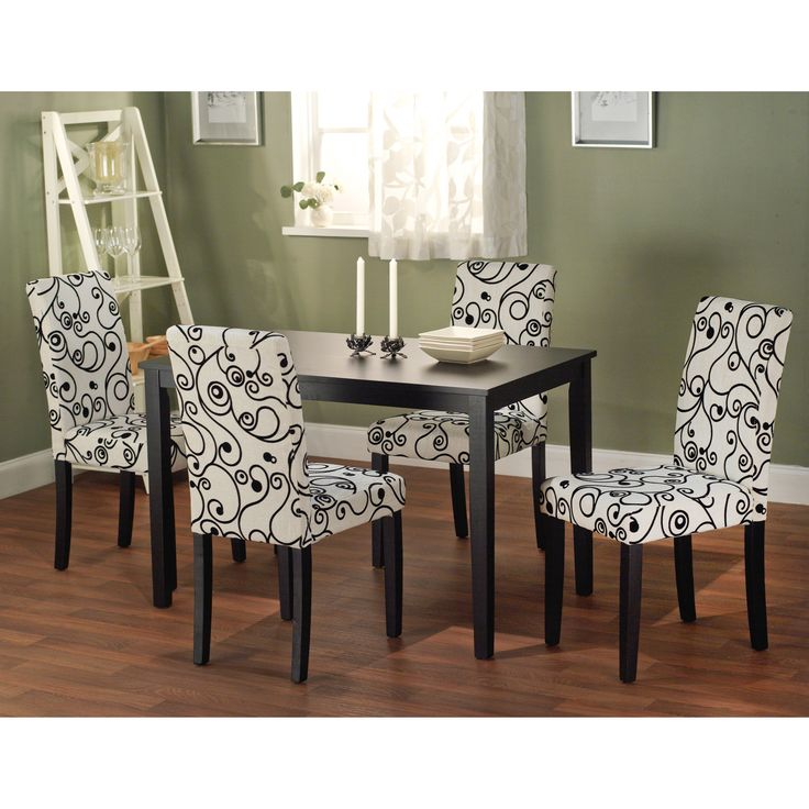 simple living sophia 5 piece parson dining set by simple