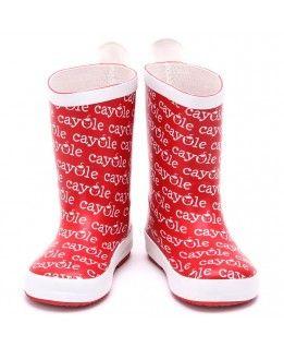 #Kalosze dziecięce czerwone, ocieplane #Cayole
