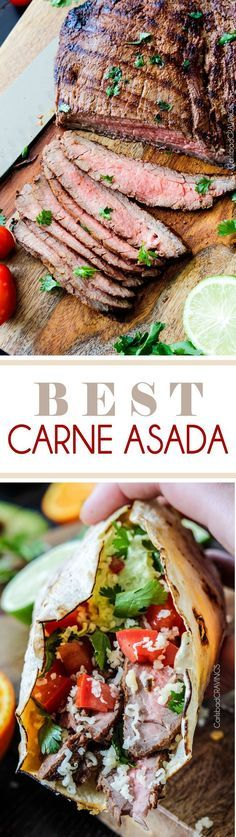 Grilled Carne Asada - Marinated and spice rubbed for the most juicy, tender, flavorful Carne Asada EVER!